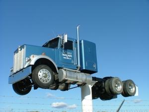 truck in the sky