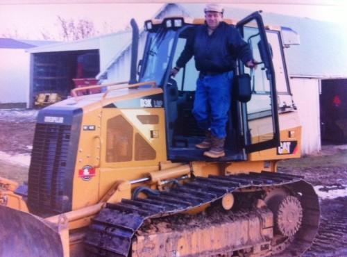 Dale with his Caterpillar D3K bulldozer